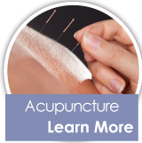 Acupuncture - Learn More - acupuncture on back